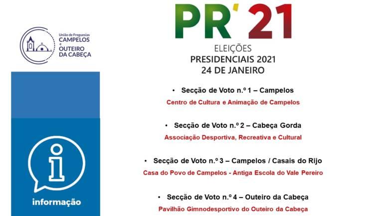 COMUNICADO: Eleição para Presidente da República 2021